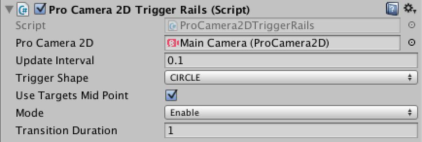 Trigger - Rails - Pro Camera 2D - Unity Camera Plugin